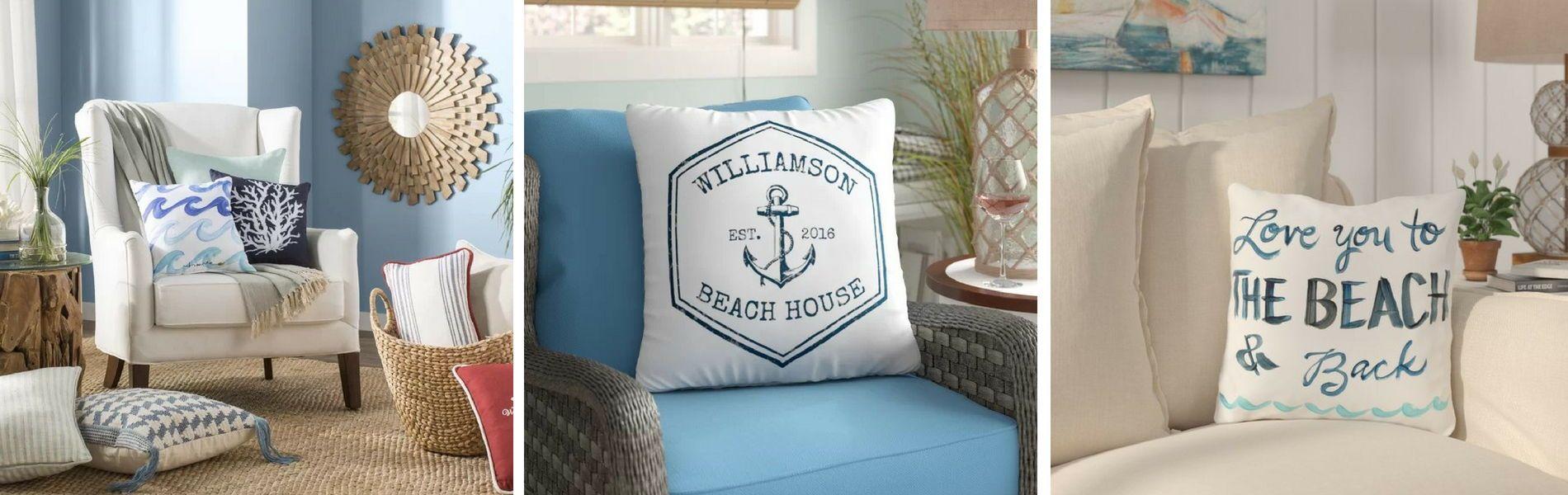 100 Coastal Throw Pillows Beach Throw Pillows For 2020