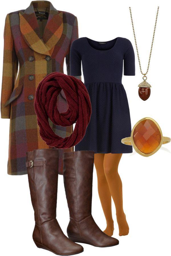 """Navy+Mustard+Cranberry"" by ladybice on Polyvore"
