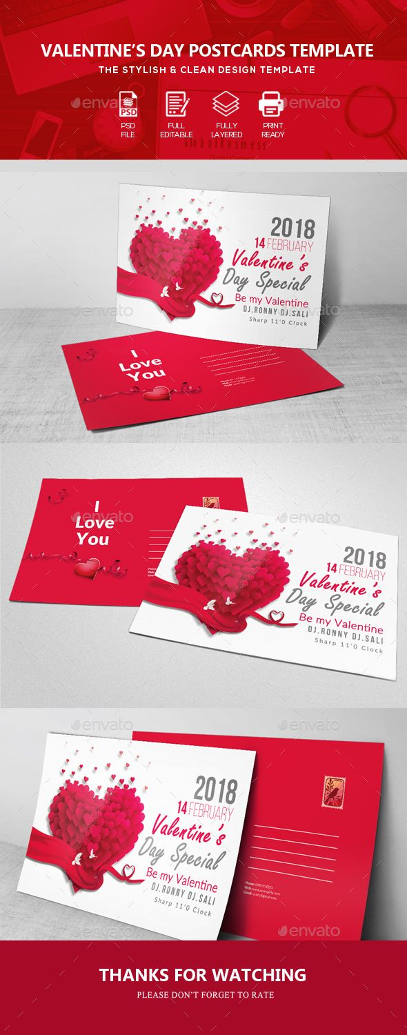 Valentine Event Post Card Post Card Postcard Design And Template - Event postcard template