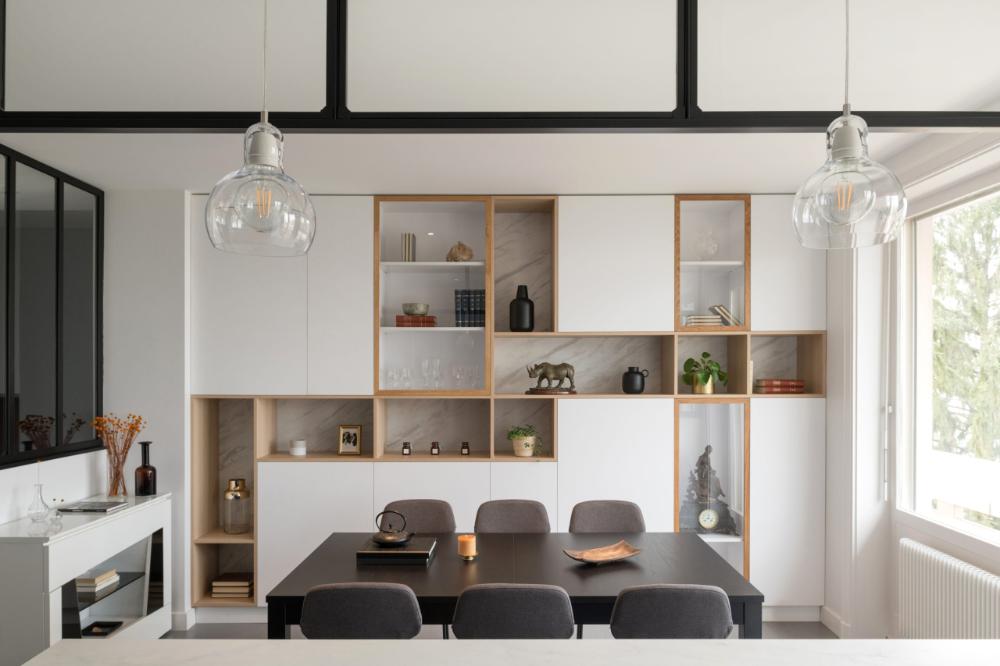 APPARTEMENT MONPLAISIR | Agence DEL IN  | conception d'espaces à forte identité | mobilier su-mesure, verrière et ilot central #bienchezsoi #architectureinterieure