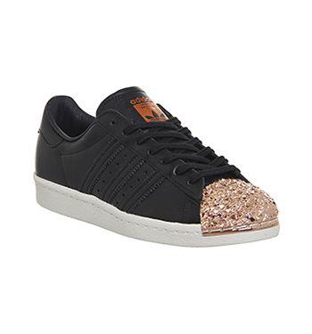 adidas superstar 80's metal toe trainers white black metal txt