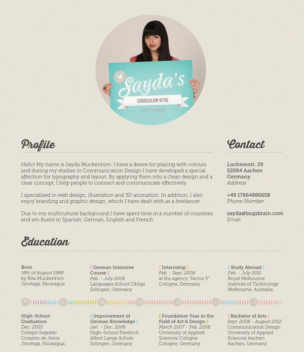 40 Creative CV Resume Designs Inspiration 2014 Creative cv - best resume fonts