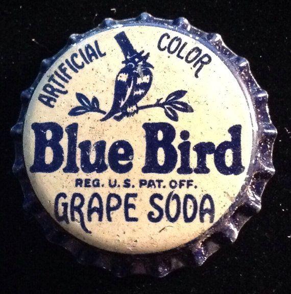 BLUE BIRD GRAPE Soda Bottle Cap Cork Unused