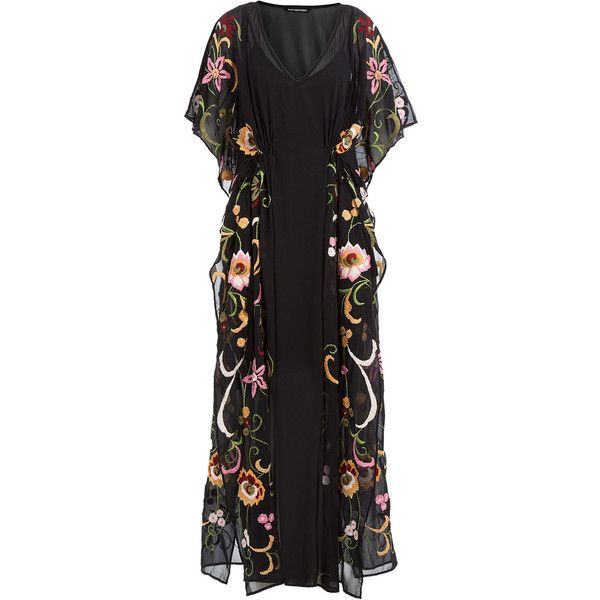 2a33e11868 KAS New York Rebecca Embroidered Kaftan ( 195) ❤ liked on Polyvore  featuring tops