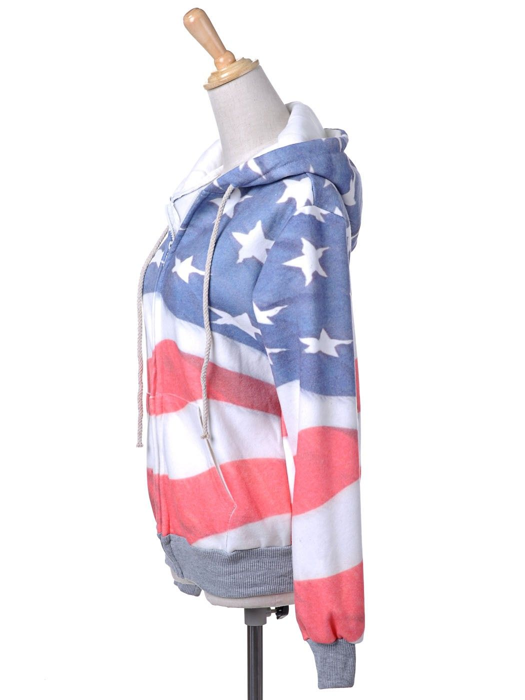 Anna-Kaci S/M Fit Red, White and Blue American Flag Zip Up Fashion Hoodie Jacket [Y81515] - $31.90 : Alilang, Fashion Costume Jewelry & Accessories Store