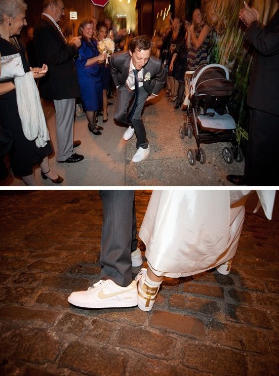 Nike Wedding Sneakers On Bride And Groom Jenny Kim Photography