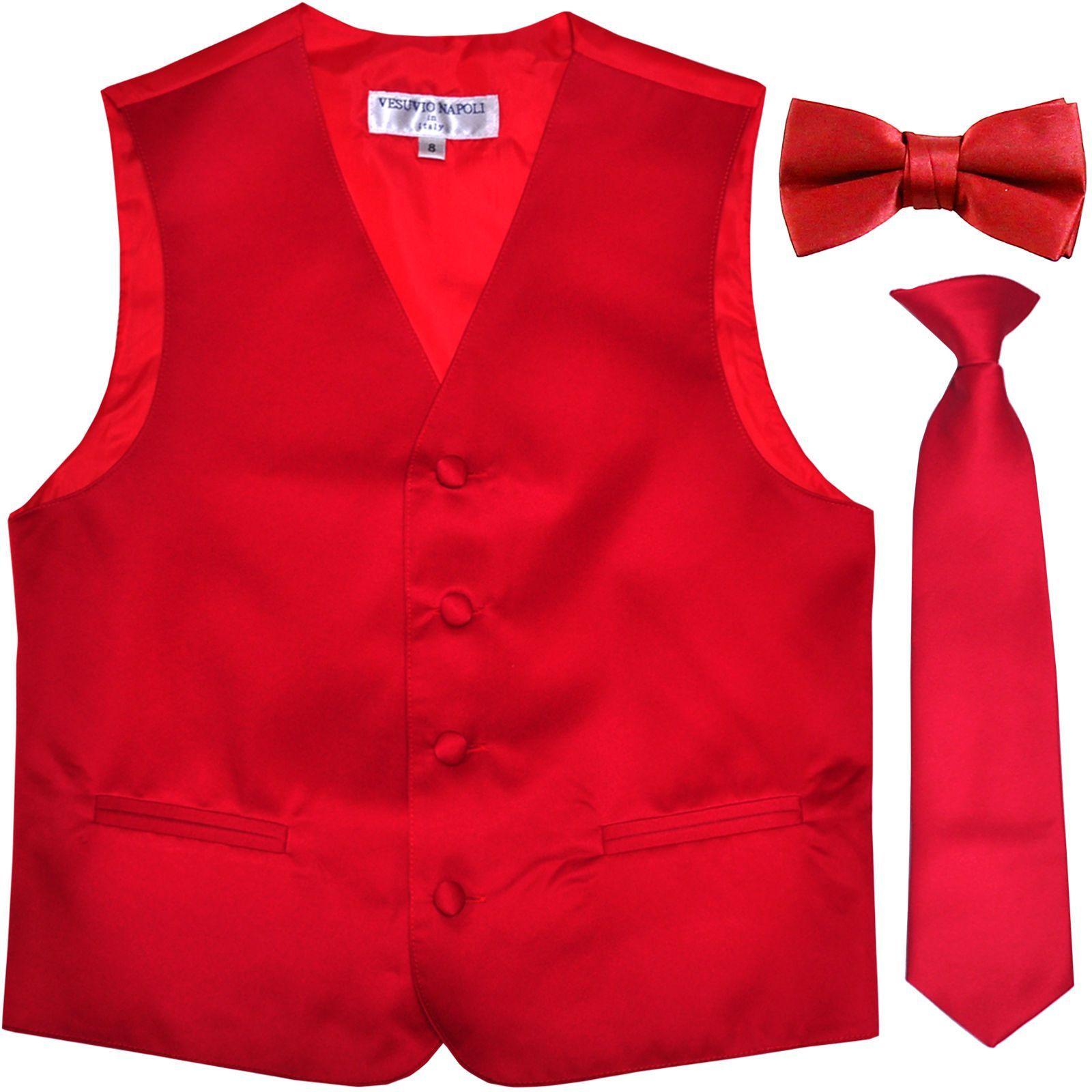 New Vesuvio Napoli Kid/'s Boy/'s Clip On Pre-tied Necktie size 14 White Formal