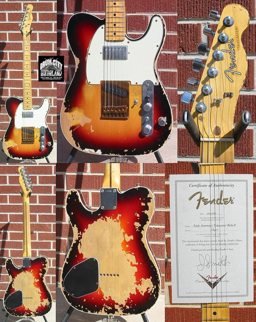 gorgeous! fender® custom shop masterbuilt andy summers the police
