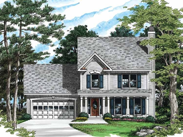 Country Style House Plan 3 Beds 2 5 Baths 1505 Sq Ft Plan 927 49 House Plans Country Style House Plans Country House Plans