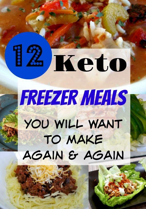 12 Delicious Freezer Keto Meals #meals