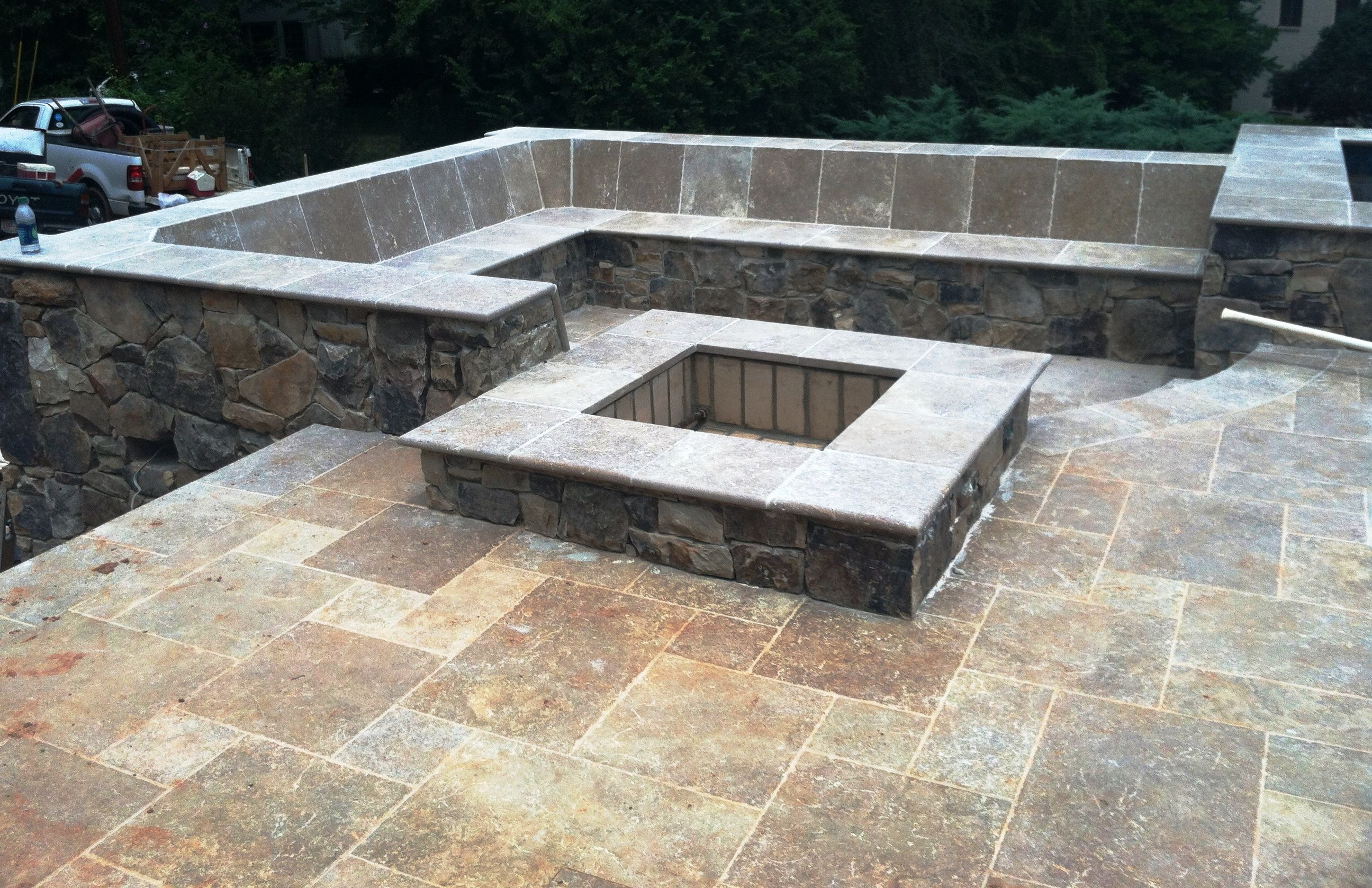 Find This Pin And More On Backyard By Camilittle3. Stone Patio ...