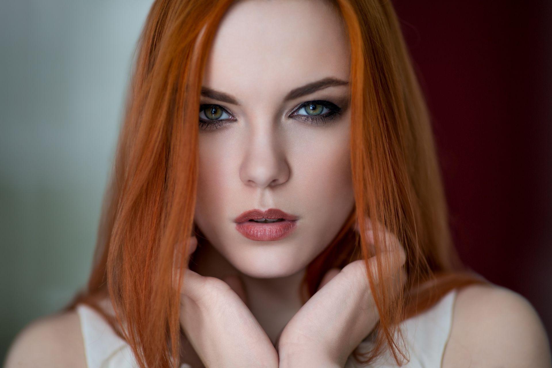 Femmes top model woman green eyes redhead fond dcran beautiful femmes top model woman green eyes redhead fond dcran surreal photospaper wallsbeautiful voltagebd Images