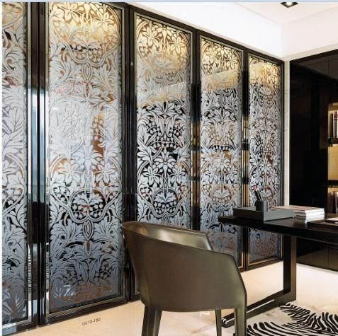 High Quality Folding Home Decorative Stained Glass Interior Doors For Wardrobe Glass Door