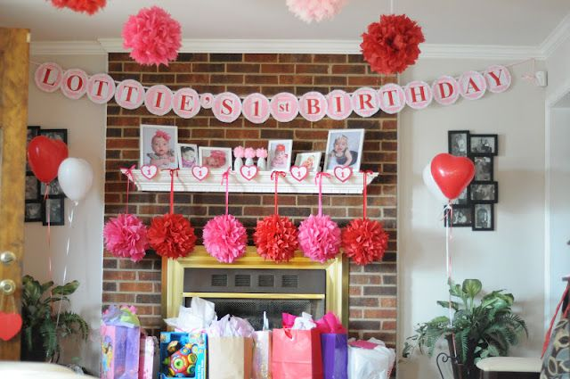 Valentines Theme 1st Birthday Party Love The Heart Shaped Balloons