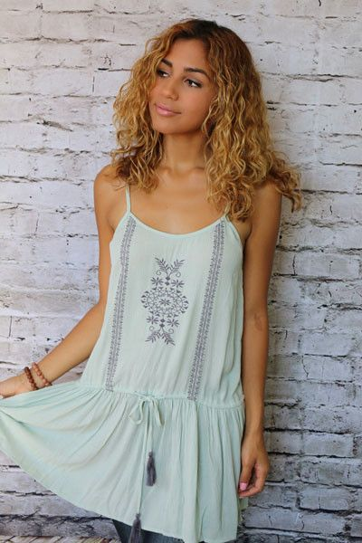 Jewel Tunic Top with Tassels. @unhingedboutik. Order Unhinged Boutique at www.unhingedboutique.com