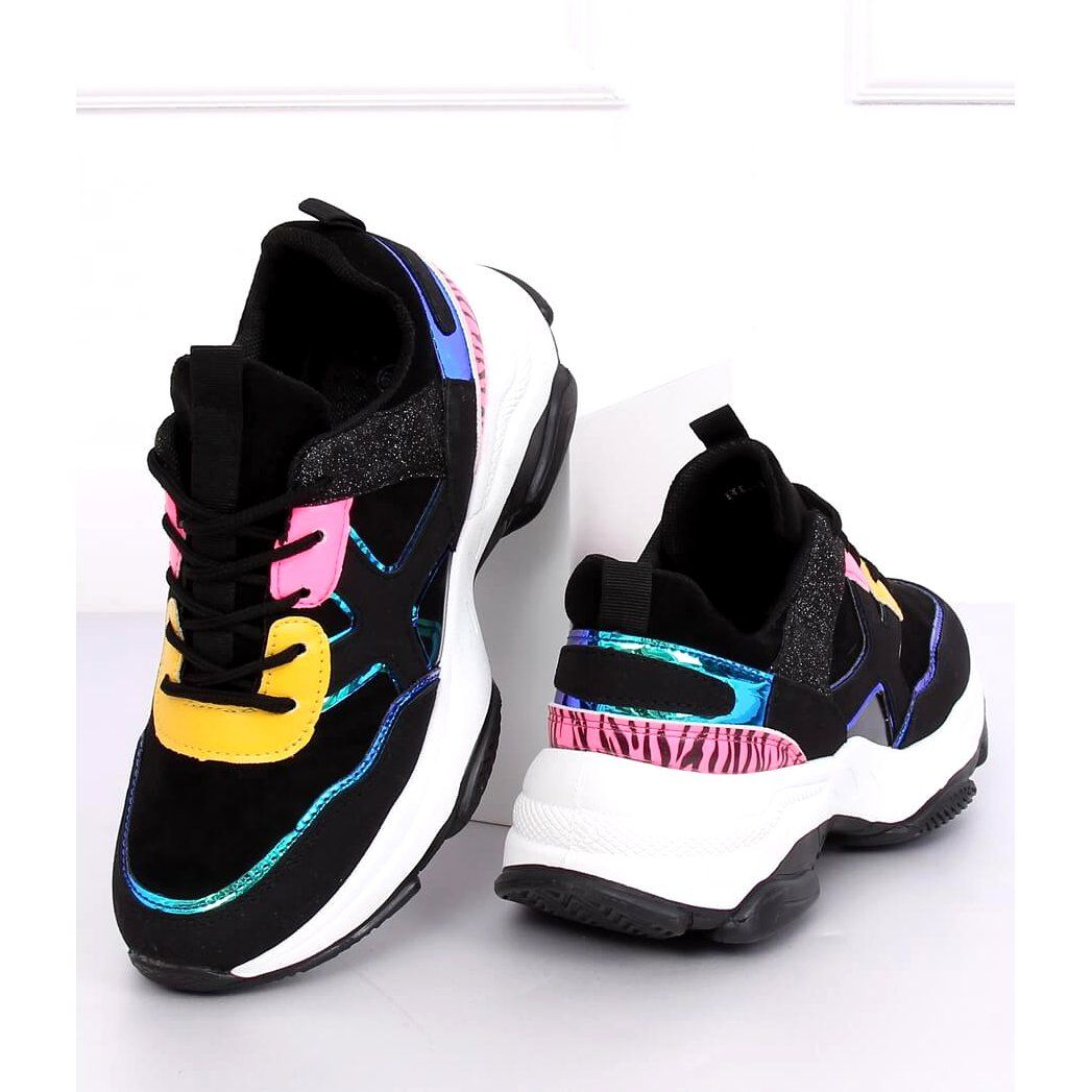 Black Hl 12 Black Sports Shoes Multicolored In 2020 Black Sports Shoes Sports Shoes Shoes