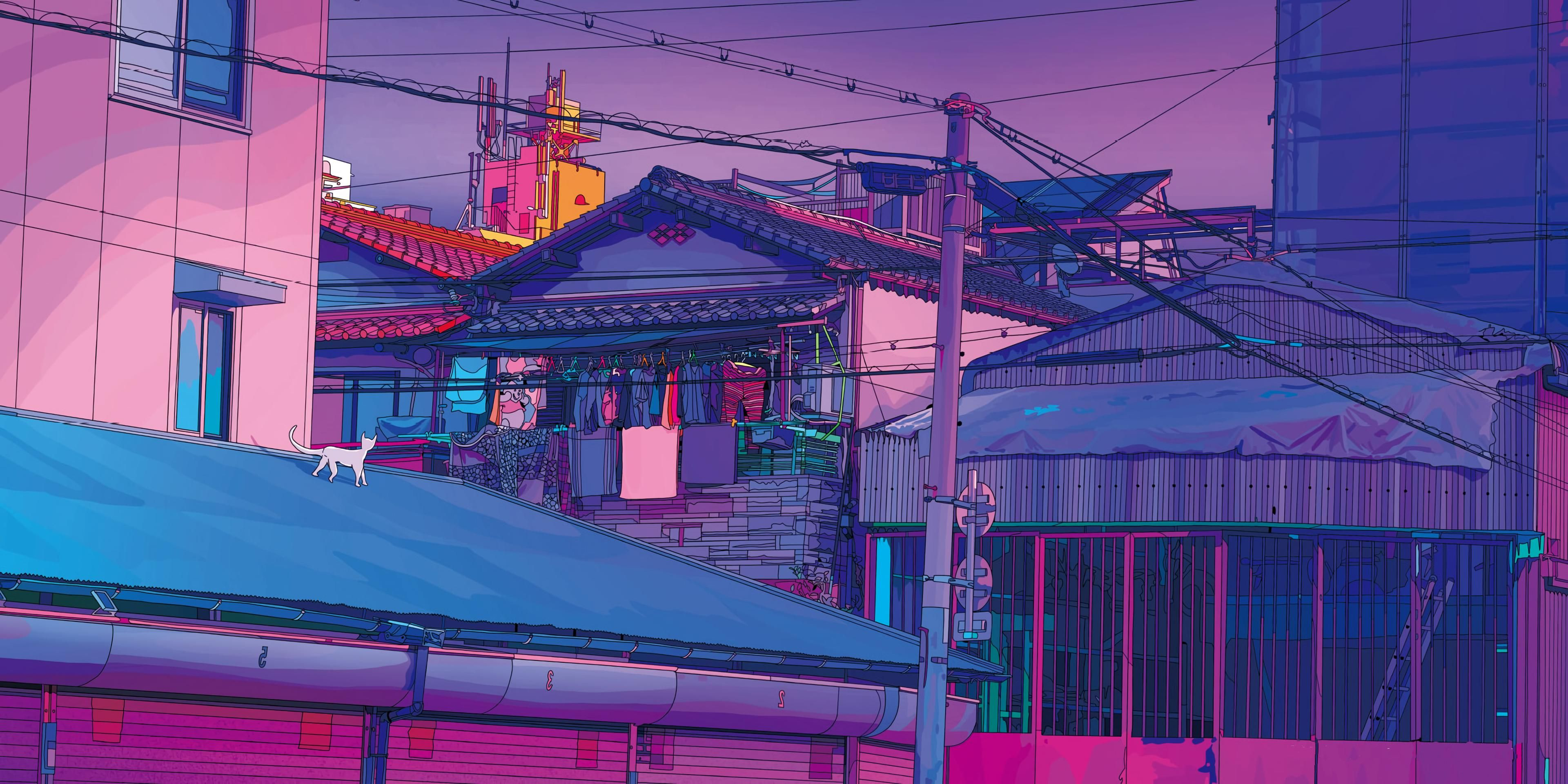 Aesthetic Tokyo (by mad.dog.jones) [3840x1920] in 2020