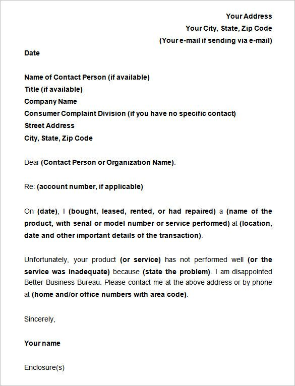 complaint letter example notice claim defective goods template amp - notice form example