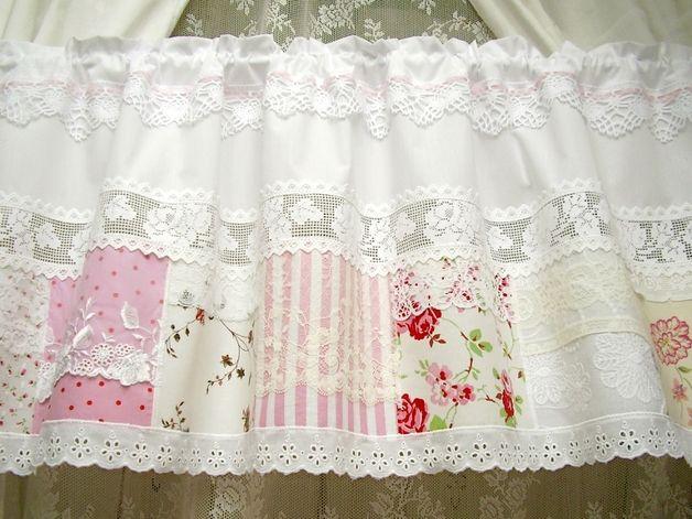 gardinen rosen bistro gardine landhausstil shabby chic. Black Bedroom Furniture Sets. Home Design Ideas