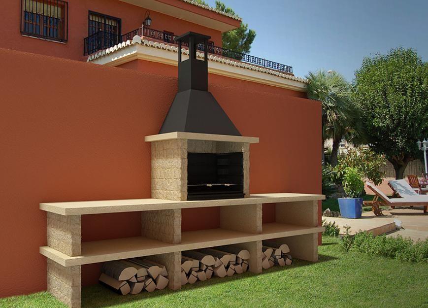 Parrilla moderna buscar con google patiois decorados - Matachispas para chimeneas ...