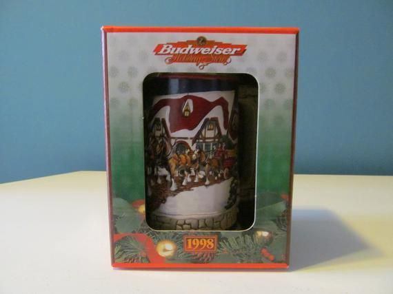 New In Box  NIB Vintage  Retro 1998 AnheuserBusch Budwesier Clydesdale Horses Christmas Holiday X  Products