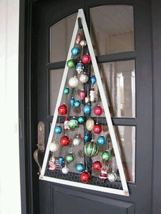 Rbol de navidad para adornar la puerta de casa xmas tree - Adornar la casa en navidad ...