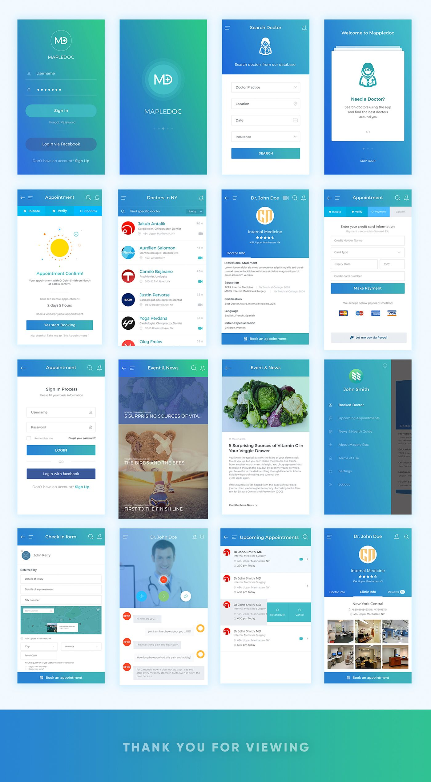 App Ontwerpen Medical Healthcare Appointment App Ios Android On Behance Ui