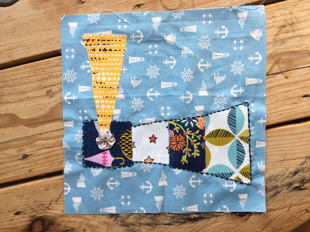 Memory quilt made by each hen guest