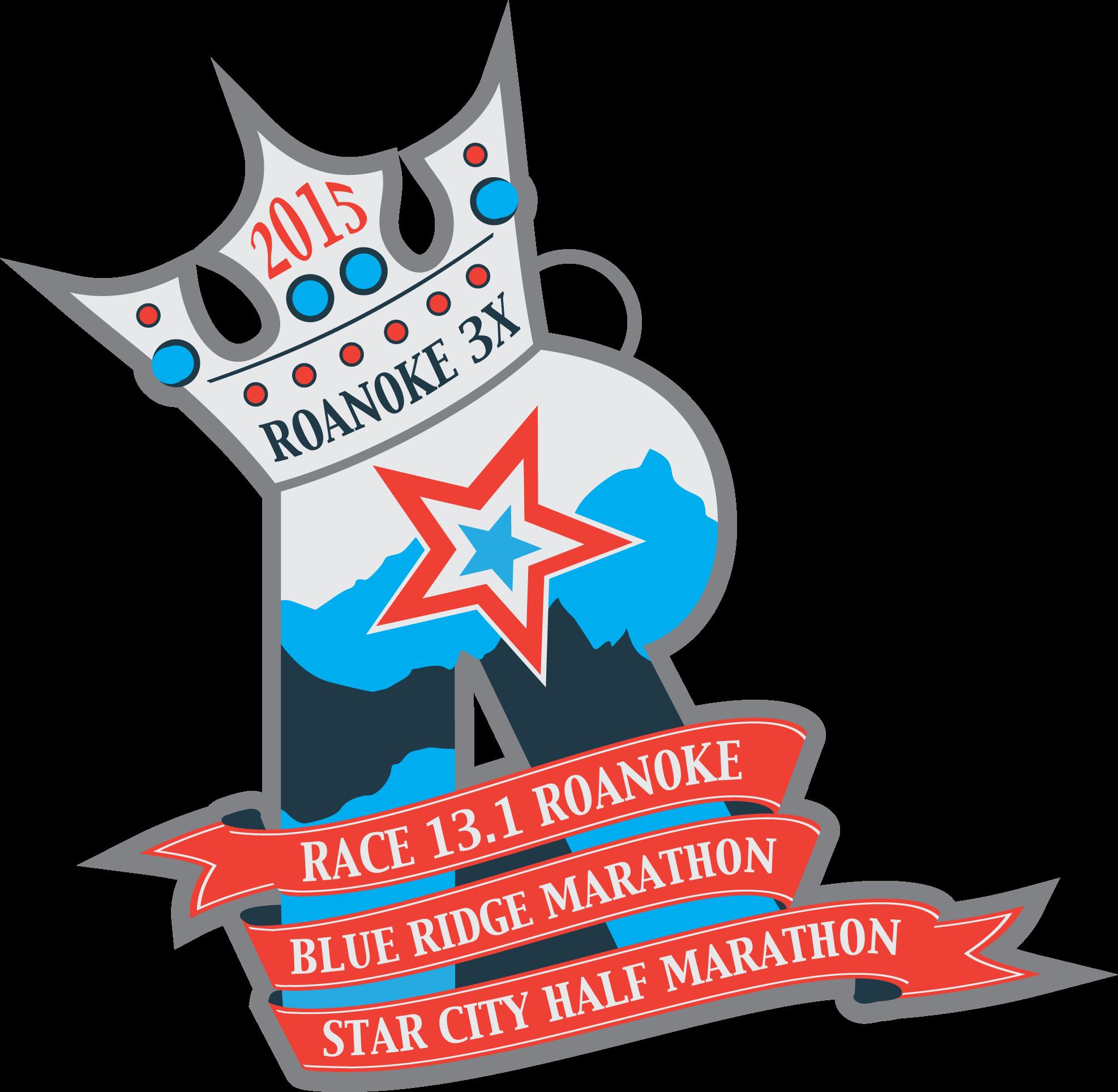 2015 Roanoke Triple Crown Earn this medal by completing