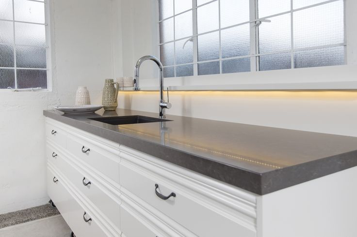 Caesarstone Piatra Grey. By Sally Steer Design, Wellington NZ ...