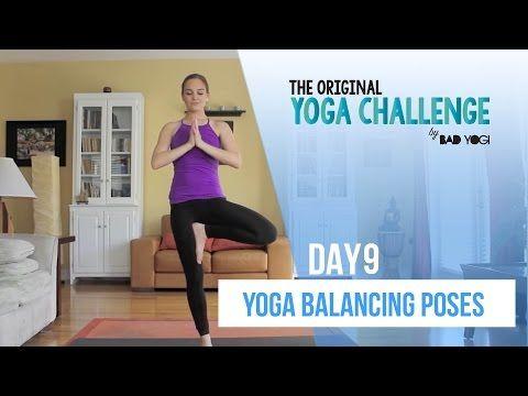 original yoga challenge day 9  yoga balancing poses