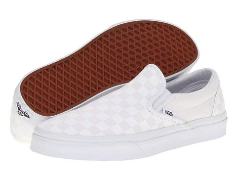 [Classic Slip-On™- Vans @ Zappos] A fun white-on