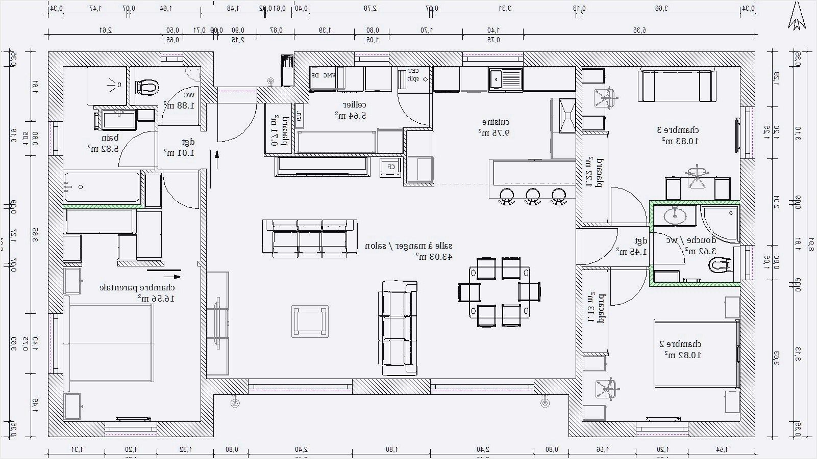 Epingle Par Marianederimatara Sur Plan Maison Plan Maison Plain Pied Maison Plain Pied Plan Maison 120m2