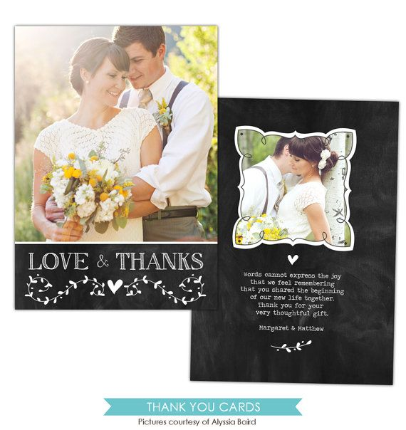 Expensive Wedding Gifts: INSTANT DOWNLOAD Wedding Thank You Card Photoshop By