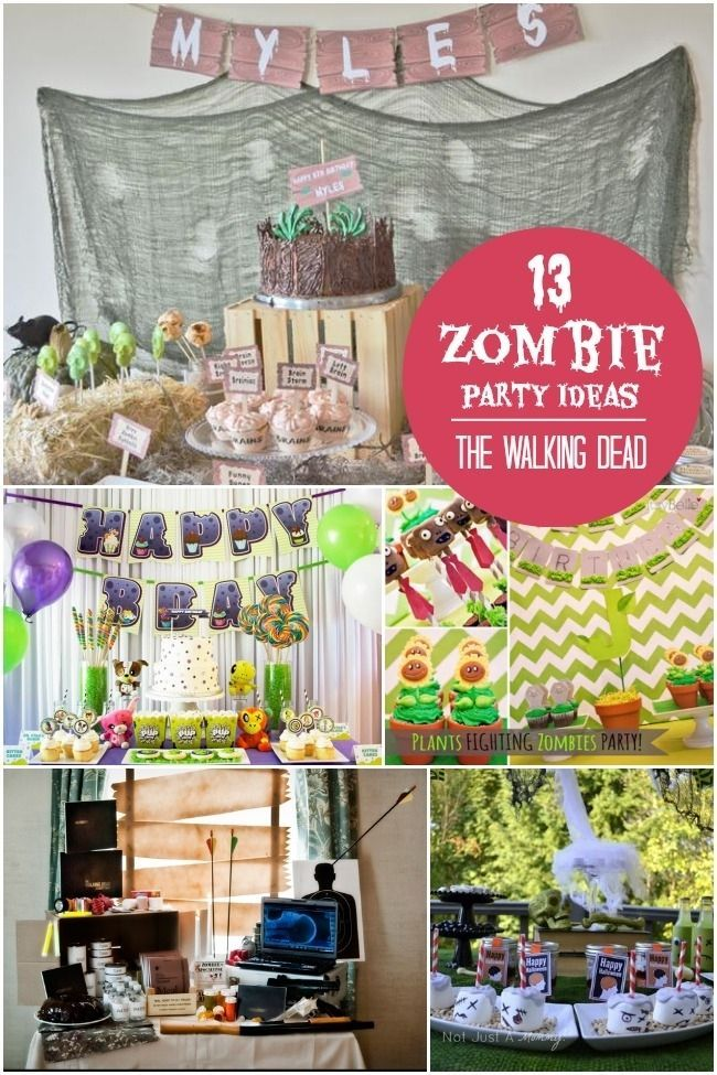 The Walking Dead Zombie Birthday Party Ideas www.spaceshipsandlaserbeams.com