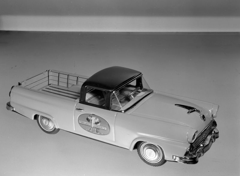 Ford ute toy car. Max Dupain photo, 1957.