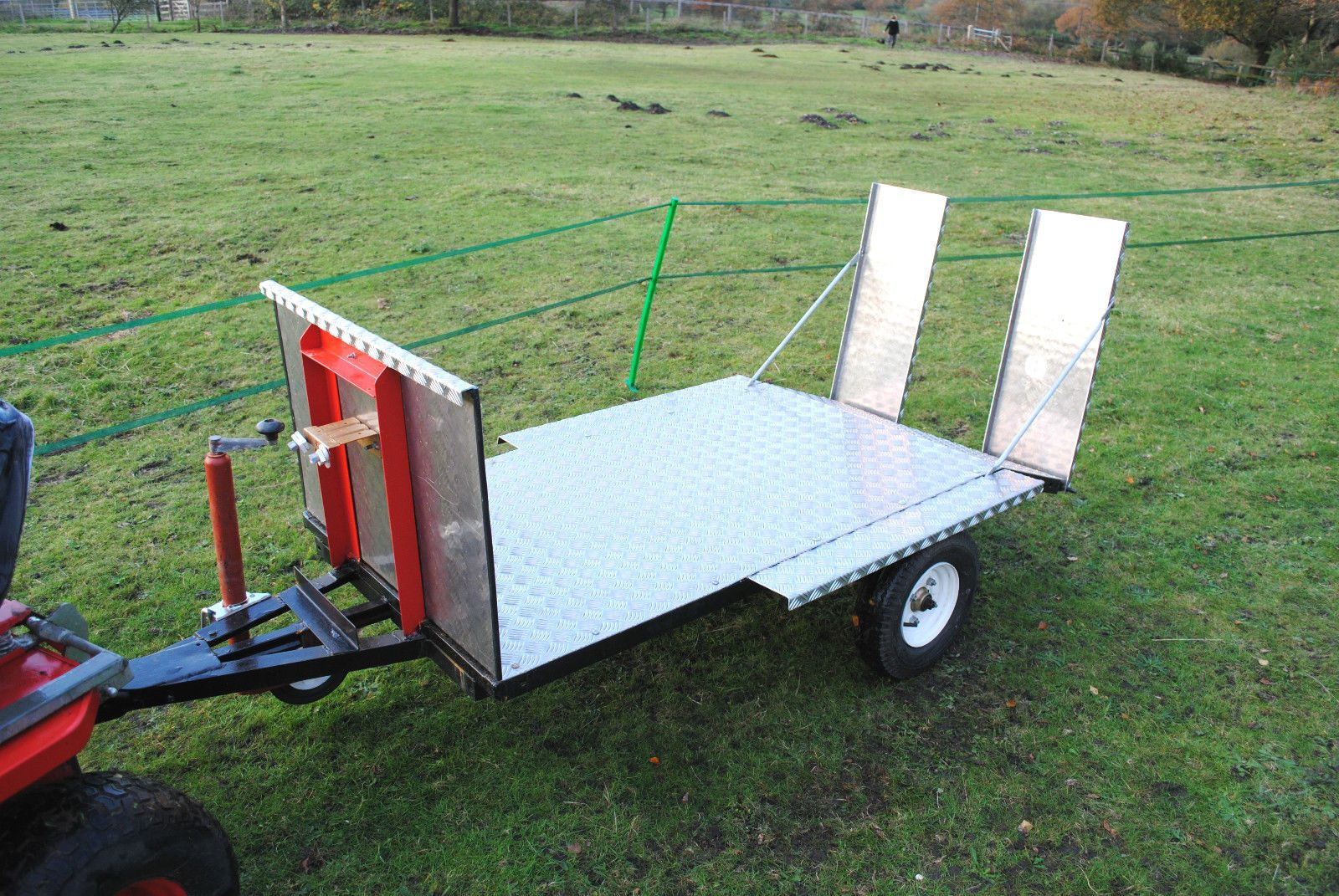 1 Axle Low-Loader TRAILER for ATV, Quad Bike, TRACTOR, Ride on MOWER