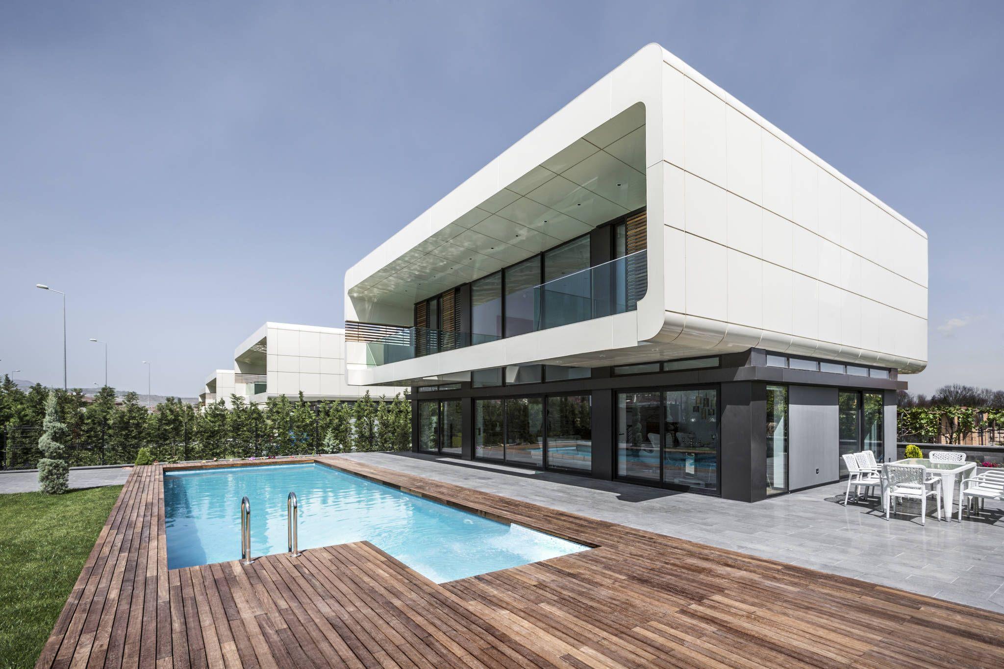 Bahad R Kul Architects  Bk House Modern Tarz Evler