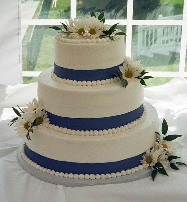 Kind of our cake the ribbon will be the same color as the blue wedding cakes diy wedding cake tips 5 simple decoration ideas the i do junglespirit Choice Image