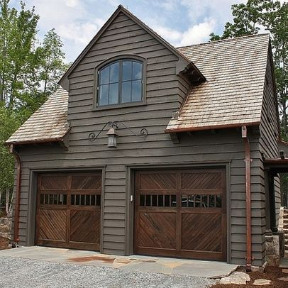 Compact With A Steep Pitch Roof Reduce The Size Of Dormer No Need For An Upstairs Apartment Garage Doors Garage Design Garage House
