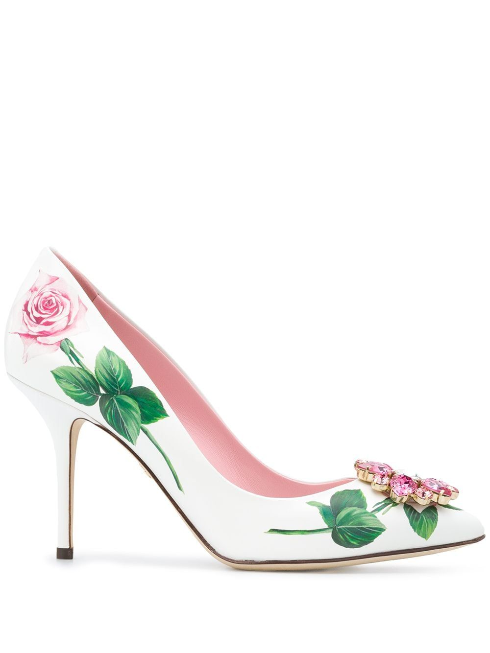 Dolce & Gabbana Tropical Rose crystal-embellished Pumps - Farfetch