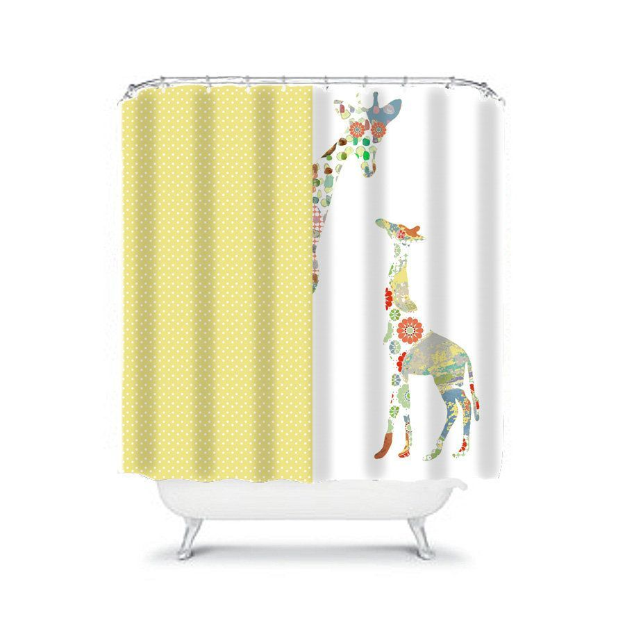 Sunny And Bright Grey And Yellow Shower Curtain Yellow Shower Curtains Gray Shower Curtains Fabric Shower Curtains