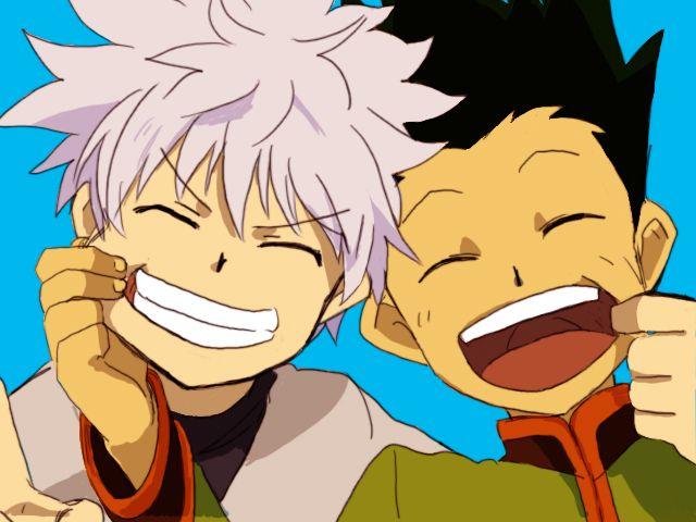 Killua Zoldyck And Gon Freecss Hunter X Hunter Hxh Kirua Zorudikku Furikusu Friends Killugon Gonkillu Hunter Anime Hunter X Hunter Anime