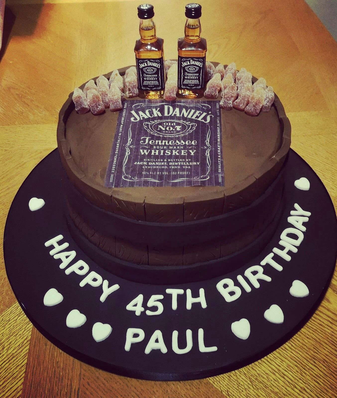 Happy 45th Birthday Paul Vanilla Victoriasandwich Jackdaniels