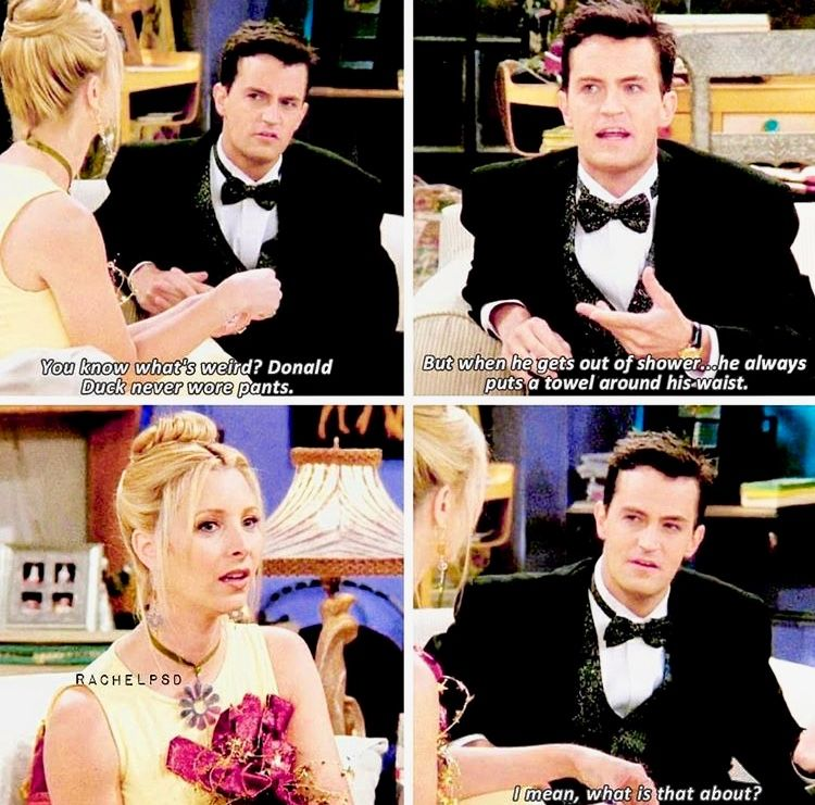 Wow, that's deep Friend jokes, Friends tv, Friends show