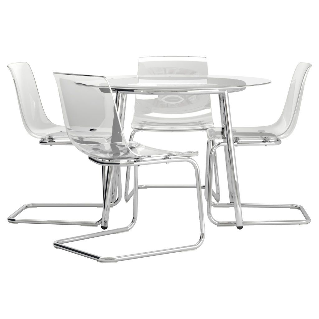 Beautiful Clear Acrylic Dining Chair With Stainless Steel Frame