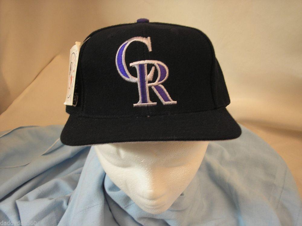 MLB Colorado Rockies Black w/ Black Flat Bill Snap
