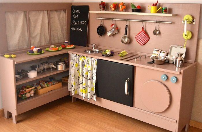 Bespoke wooden play kitchen with market stalls and washing machine woodentoy woodenkitchen - Muebles de cocina bilbao ...