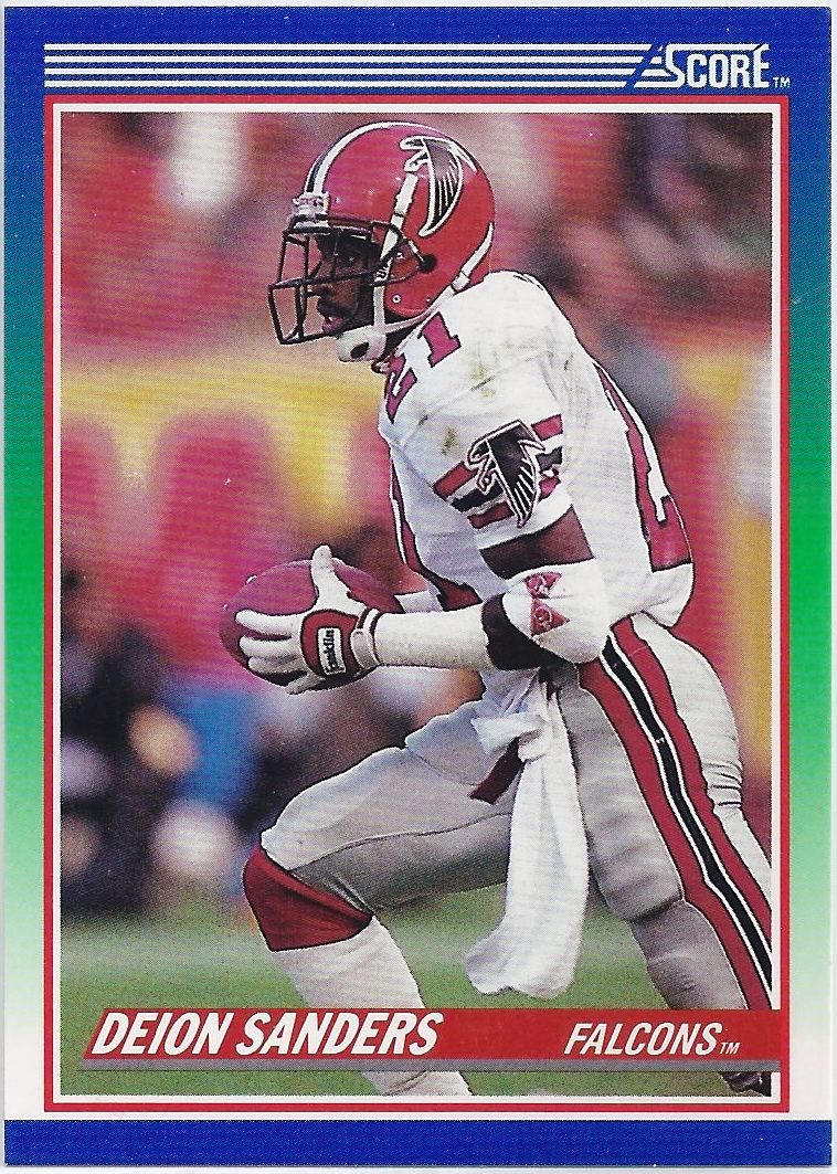 Deion Sanders Atlanta Falcons 1990 Score card 95