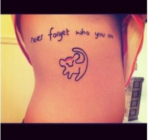 Cute Lion King Tattoos